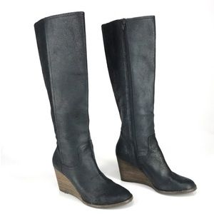 Lucky Brand Yacie Black Boots Size 6.5